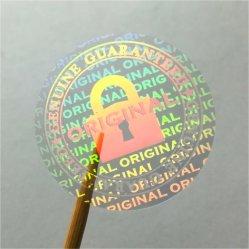 Holograma de segurança Auto Laminagem de cartão de identificação com a etiqueta holográfica impressão UV