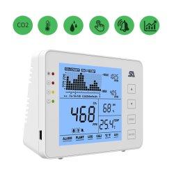 Allarme dell'interno di umidità di temperatura dell'anidride carbonica del tester di Iaq del video del CO2 con il tester da tavolino disponibile muto del CO2