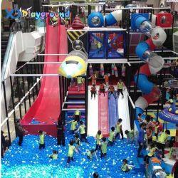 Temos 20 define os projectos reais na Rússia Madeira crianças playground coberto equipamento interior comercial com deslize