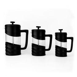 Isolare il POT termoresistente della pressa del francese del caffè del tè di vetro di Borosilicate con il sistema di filtrazione dei 3 livelli