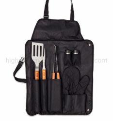 7PCS Grill Conjunto de Ferramentas de churrasco com avental Oxford Maleta de ferramentas para grelhar churrascos