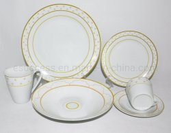 La Chine usine la vaisselle en porcelaine blanche normale le commerce de gros de la vaisselle