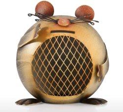 Dinero multifunción ratón de la Moneda de hierro metálico Caja hucha para la decoración del hogar