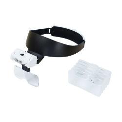 3 LED 照明拡大鏡付きブラケットヘッドバンドメガネ拡大鏡 光学レンズの読み取り用 (BM-MG5038)