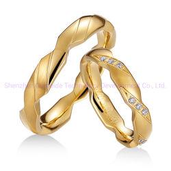 Uomini classici delle ragazze dell'anello del Daniel Wellington che Wedding l'anello di tovagliolo dell'oro
