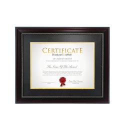 Certificado de madera de excelente calidad con marcos de foto