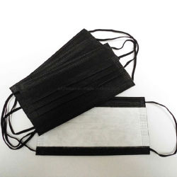 Supporto per auricolare in tessuto non tessuto nero antipolvere PM2,5 a 3 veli non medicale Maschera facciale monouso