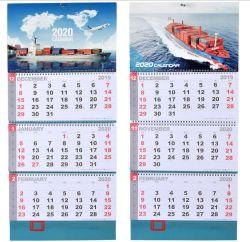 De nieuwe Kalender van de Scheur van de Kalender van het Bureau van de Kalender van de Reclame van het Bureau van de Dekking van 2020 Maritieme Hete Gouden Kalender Aangepaste In het groot