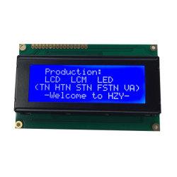 وحدة LCD صغيرة الحجم بلون أبيض/أسود أحادي 20 حرف X4