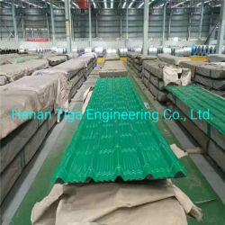 Breiten-unsymmetrischer Jobstepp des Grün-0.30mm der Stärken-1050mm erstellte Dach-Fliese ein Profil