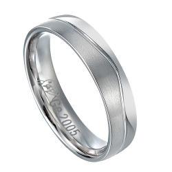 Namaakbijouterie van de Ringen van het Roestvrij staal van de Ring van het Paar van het huwelijk de Vastgestelde