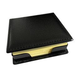 يوفر منظم سطح المكتب أداة تثبيت بطاقات الأسماء الجلدية موزع الملاحظات الملصقة علبة تحتوي على غطاء