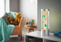 プラスチック魚(32cmの長さ10cm Dia)が付いている居間&/Bedroom/オフィスのための変更カラーライトが付いている小さいLEDの泡管の床ランプの多彩な子供のランプ