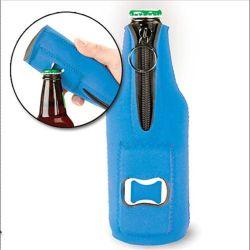 Refroidisseur de bouteille de bière en néoprène titulaire avec l'ouvreur
