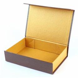 Caixa de papel dobrável retângulo para oferta de chocolate Box aberta W/Íman
