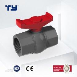 PP PVC CPVC プラスチック製タグロナールボールバルブねじ ASTM / NSF 証明書 Vasen Ty 付き GB 標準は OEM を提供します