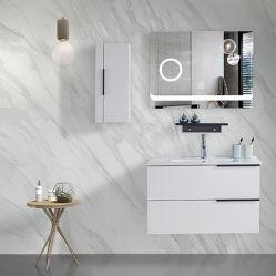 White Hotel Hölzerne Badezimmer Schrank Badezimmer Schrank Eitelkeit Verspiegelte Möbel Badezimmer