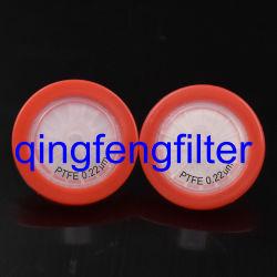 25mm filtro de jeringa PTFE 0,22um para ventilación y filtrado de gases