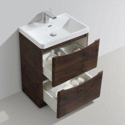 Colgado en la pared gabinete de vanidades de Baño 2 cajón blanco brillo 600/800/900