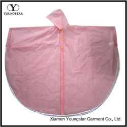 学校の女の子のためのピンクカラー方法デザインPVC雨岬