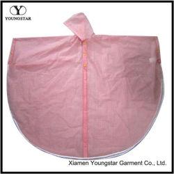 Design de Moda de cor-de-rosa chuva de PVC Cape para Garotas do Ensino médio