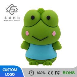 Cute Cartoon PVC personnalisé de la grenouille verte stick USB à mémoire flash 8 Go de clés du pilote USB à mémoire Flash