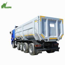 ダンプカーの油圧側面か背部または後部ダンプするトラックのダンプのトレーラーを(superlinkを連結しなさいb二重)半ひっくり返す3車軸U/正方形の形のダンプまたは端