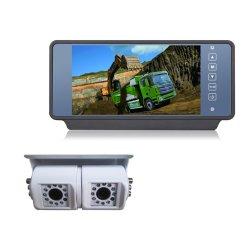7 pulgadas de pantalla panorámica LCD Monitor Retrovisor del coche con toque el botón para vehículos grandes