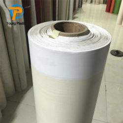 Lucha contra incendios de PVC de 0,1 mm laminado decorativo de cuero con piso de cine