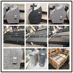 Cheap /gris noir /sculpture de granit rose rose/plat/gravure/Vases/Ange/banc de pierre tombale de tombes/Double/Monuments/Cemetery/Memorial
