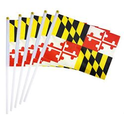 Jogo Desportivo barato grossista nacional de poliéster do ventilador pequena mão realizada agitando torcendo tecido bandeira