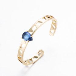 نمو [سفير] حجارة نوع ذهب يصفّى زنك سبيكة مجوهرات سوار