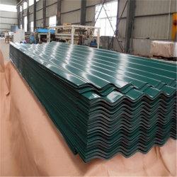 La couleur de l'acier bon marché/la plaque de toiture toits de tuiles de toiture/Ondulation de feuilles en plastique de couleur