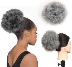 Synthetic Afro Coulisse de bouffée de queue de cheval court Kinky les cheveux bouclés Bun Extension