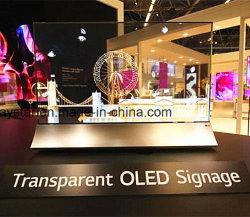 55 schermo di visualizzazione trasparente traslucido di grande grande formato OLED di pollice per fare pubblicità