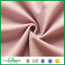100% poliéster tejido liso de terciopelo teñido de tejido de la cubierta de terciopelo de pincel