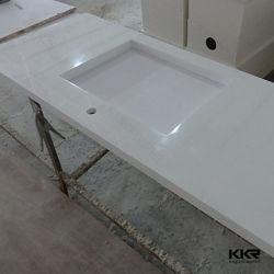 De Moderne Mens van de luxe Gemaakt tot Steen Stevige Oppervlakte Marmeren Countertop van de Keuken
