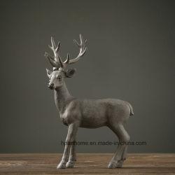 Polyresinホーム装飾的なSikaのシカの動物の置物のクラフト