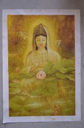 Peinture d'huile de haute qualité Guanyin célèbre artiste la peinture chinoise (EFX-18112919)