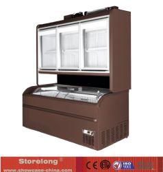 Congelador Vertical y Horizontal híbrida combinación escaparate de tienda