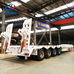 Для тяжелого режима работы 4 мостов 100тонн низкой кровати сделаны в Китае прицепа