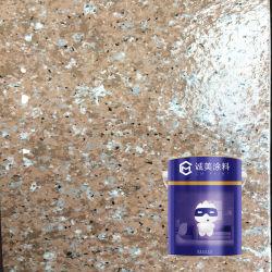 Verdaderamente ecológica efecto piedra piedra de granito con textura exterior de la pared exterior de la Pintura de recubrimiento de pintura