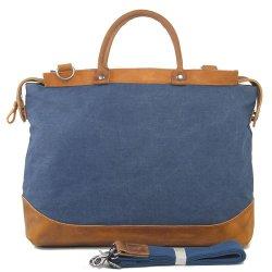 패션 캔버스 가죽 트림 노트북 핸드백 컴퓨터 가방(RS-2012-AA)