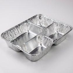 De beschikbare Doos van de Lunch van de Aluminiumfolie/Doos van de Lunch van de Aluminiumfolie van de Stoom van de Ware grootte de Diepe