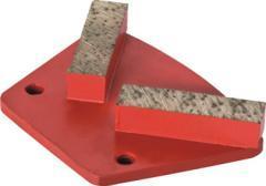 Diamond meulage tête avec 2 segments/diamant Outil/Secteur de broyage/plaque de meulage