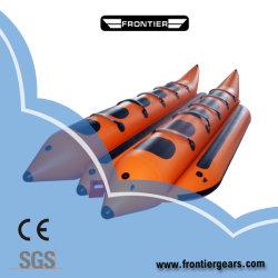 최신 PVC 고속 비행거리 물고기 판매를 위한 팽창식 바나나 보트