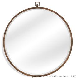 De vidro transparente a forma de círculo de 4mm e espelho de prata com gancho de ferro