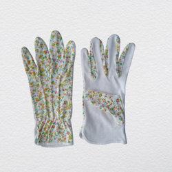 Puntos de PVC de moda ropa de algodón de jardín guante de trabajo