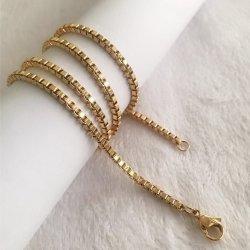 Acero inoxidable Oro Plata Oro Rosa Collar Cadena para la moda de diseño decoración regalo colgante