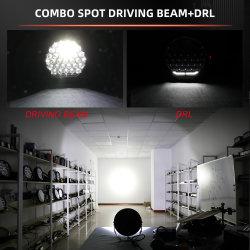 الجملة 1400M 13000lm الطاقة العالية 396W شاحنة الطرق الوعرة مصابيح القيادة LED، IP68 12 فولت 24 فولت على الطريق 4×4 9 بوصة مصابيح LED كشافات للسيارة